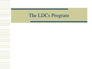 The LDCs Program