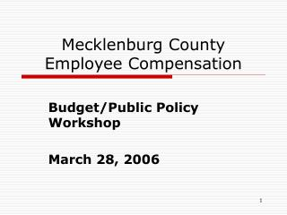 Mecklenburg County Employee Compensation