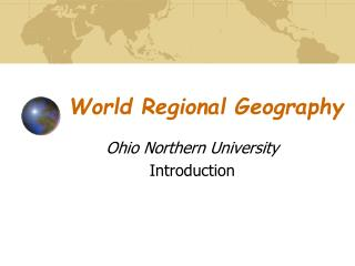World Regional Geography