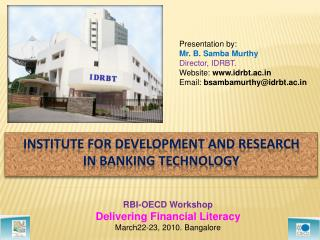 Institute for Development and Research in Banking Technology