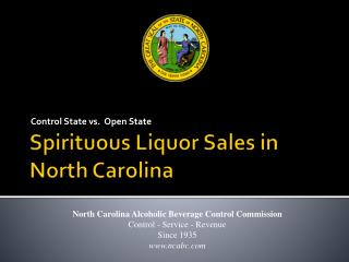 Spirituous Liquor Sales in North Carolina