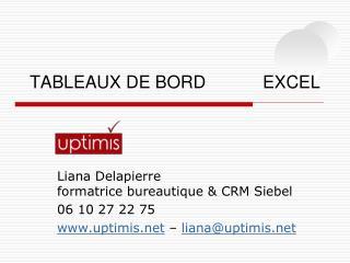 TABLEAUX DE BORDEXCEL