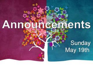 Sunday  May  19th