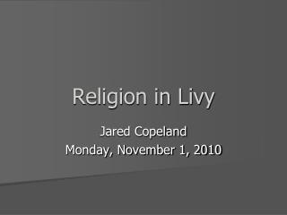Religion in Livy