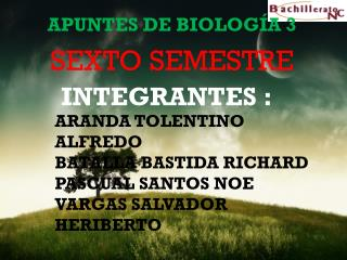 APUNTES DE BIOLOGÍA 3