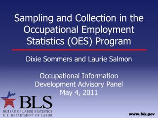 Sampling and Collection in the Occupational Employment Statistics (OES) Program