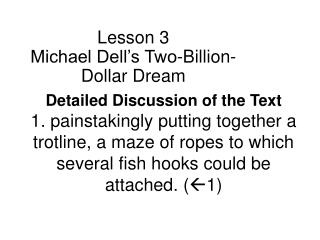 Lesson 3 Michael Dell's Two-Billion-Dollar Dream