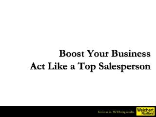 Boost Your Business Act Like a Top Salesperson