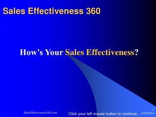 Sales Effectiveness 360