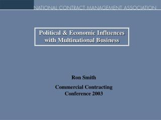 Political & Economic Influences with Multinational Business