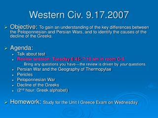 Western Civ. 9.17.2007