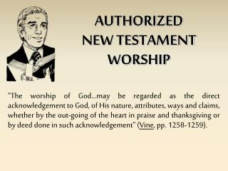 AUTHORIZED NEW TESTAMENT WORSHIP