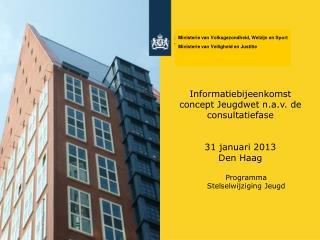 Informatiebijeenkomst concept Jeugdwet n.a.v. de consultatiefase  31 januari 2013  Den Haag