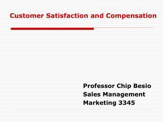 Professor Chip Besio Sales Management Marketing 3345