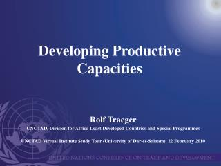 Developing Productive Capacities