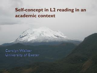 Self-concept in L2 reading in an academic context