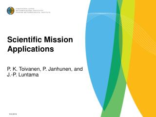 Scientific Mission Applications