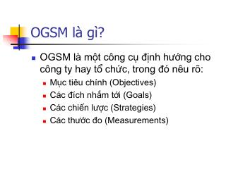 OGSM là gì?