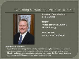 �Creating Sustainable Businesses in NJ�