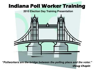 Indiana Poll Worker Training