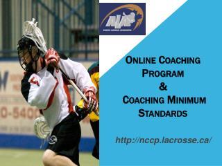 Online Coaching Program &  Coaching Minimum Standards