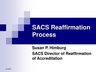 SACS Reaffirmation Process