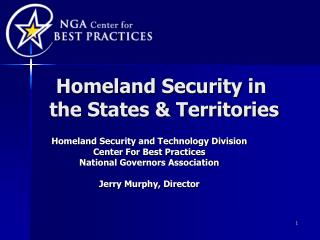 Homeland Security in  the States & Territories