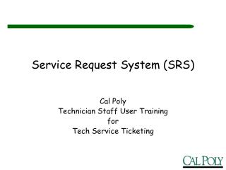 Service Request System SRS