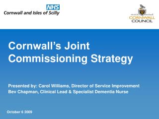 Cornwall�s Joint Commissioning Strategy