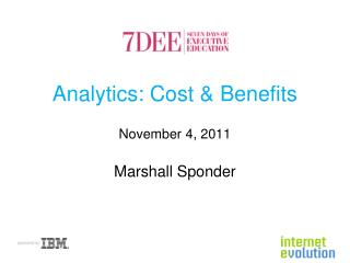 Analytics: Cost & Benefits