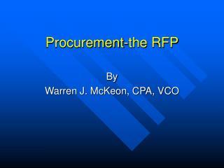 Procurement-the RFP