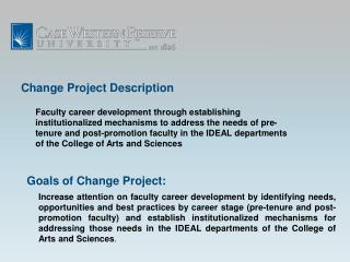 Change  Project Description