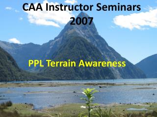 CAA Instructor Seminars 2007
