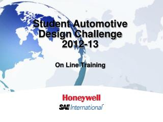 Student Automotive Design Challenge 2012-13 On Line Training