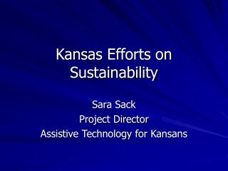 Kansas Efforts on Sustainability