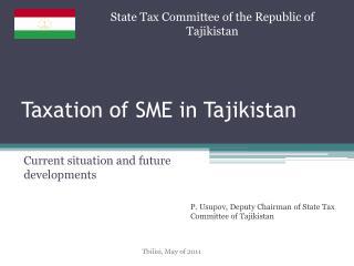 Taxation of SME in Tajikistan