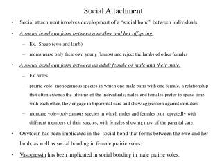 Social Attachment