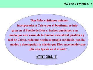 IGLESIA VISIBLE, 1