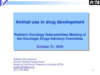 Animal use in drug development