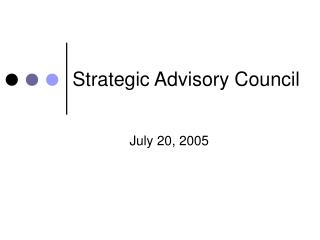Strategic Advisory Council