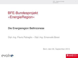 BFE-Bundesprojekt  «EnergieRegion»