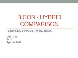 Bicon / Hybrid Comparison