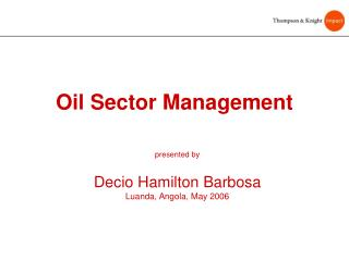 Oil Sector Management