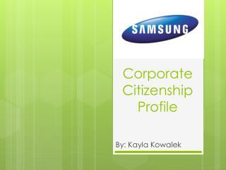 Corporate Citizenship  Profile