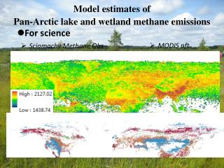 Model estimates of  Pan-Arctic  lake and wetland methane emissions