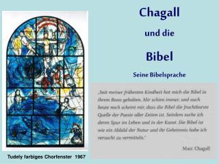 Chagall  und die Bibel Seine Bibelsprache