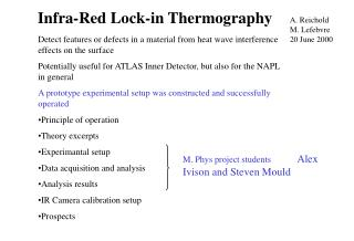 Infra-Red Lock-in Thermography