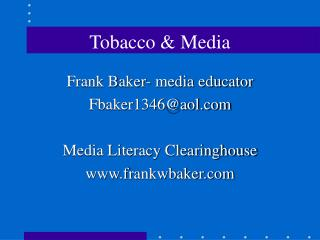 Tobacco & Media