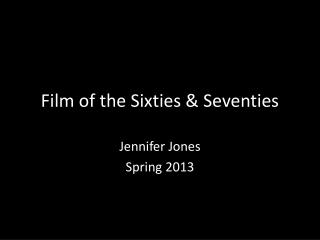 Film of the Sixties & Seventies