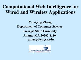 Computational Web Intelligence for Wired and Wireless Applications